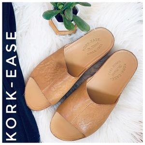 KORK-EASE leather sandal slide